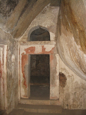 One of the entrances in Chandravalli Caves
