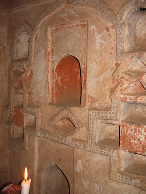 carvings in cave walls