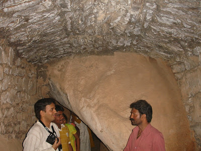 Inside Chandravalli caves
