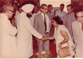 Giani Zail SIngh in AMU Aligarh
