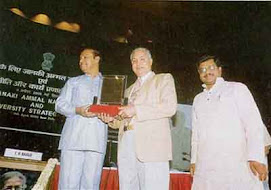 Receiving Janki Ammal National Award