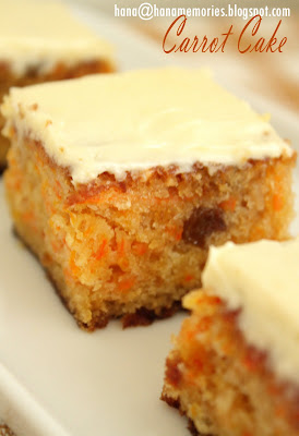 Hanas Family Carrot Cake