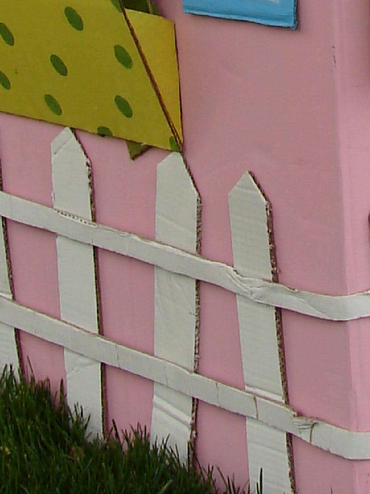 Cardboard Playhouse A Girl And A Glue Gun