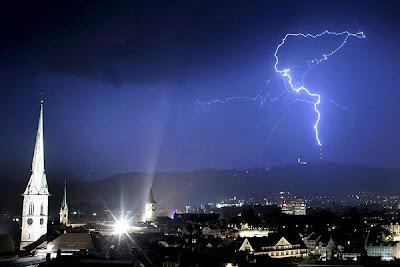 lightning in Zurich