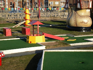 Arnold Palmer Crazy Golf course at Starr Gate in Blackpool