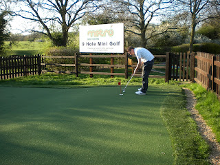 Golf Putting Green at the Metro Golf Centre in Barnet, London