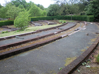 Derelict and unique 18-hole Mini Golf course in Victoria Park, Glasgow