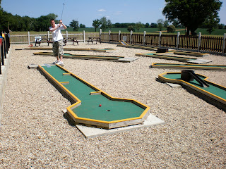 Minigolf at Blake End Craft Centre, near Braintree, Essex