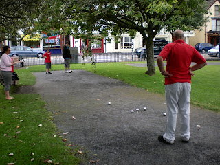 Playing Boules at The Mumbles in Swansea