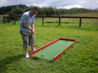 Crazy Golf at the Dyfed Shires & Leisure Farm in Eglwyswrw, Wales