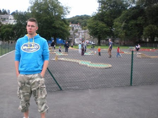 A disappointed Richard Gottfried at the Porthmadog Crazy Golf courses