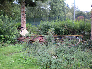 The remnants of a Minigolf course in Pontypool Park / Parc Pont-y-pŵl