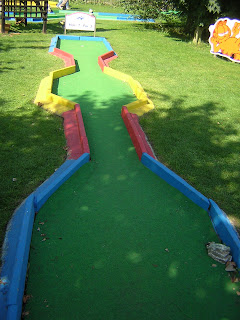 Crazy Golf at Stonham Barns in Suffolk