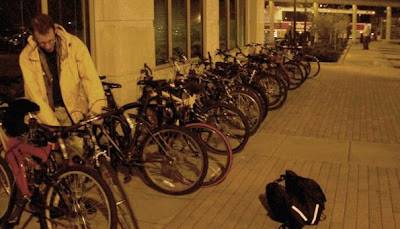Bike parking at the Illinois Terminal in Champaign