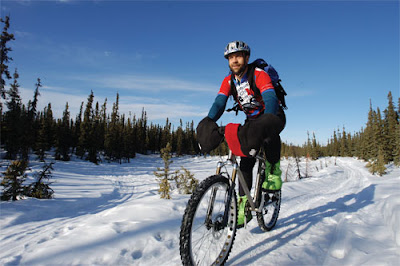 Image of bicyclist in Alaska