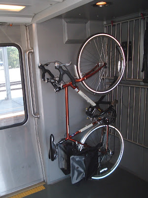 Image of bike on Amtrak's Capitol Corridor train