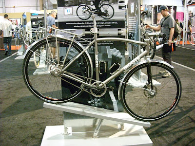 Image of titanium commuting bicycle at Interbike 2008