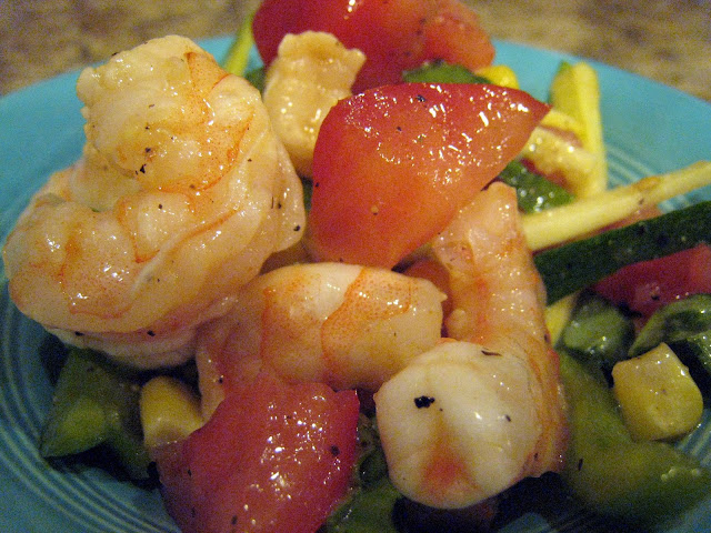 shrimp vegetable salad