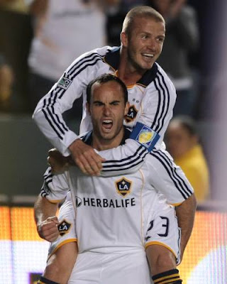 MLS: Landon Donovan, David Beckham, Los Angeles Galaxy v. San Jose Earthquakes, April 2008