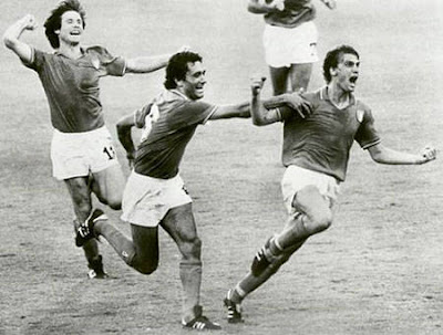 Marco Tardelli celebrating in the WC-Final 1982 vs Germany