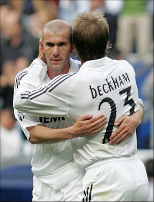 Zidane is the best player ever, says Beckham