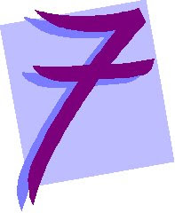 Chiffre Number 7 Seven