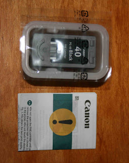 Canon Ink Cartridge PG40 Packaging