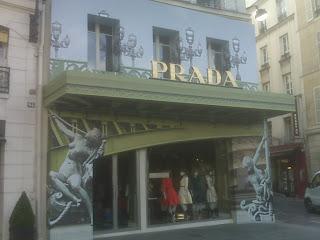 Prada temporary store on rue Faubourg St Honoré
