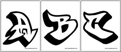 New Graffiti Art Alphabet Letters A B C Sketches