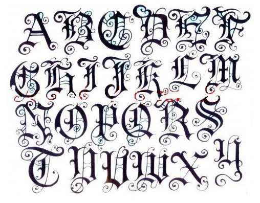 GRAFFITI FONTS Graffiti Fonts Gothic