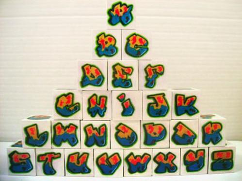 Graffiti Block Letters Alphabet