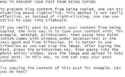 How t prevent your post from being copied