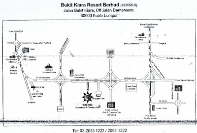 map to Bukit Kiara Resort