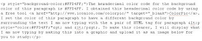 HTML tag for paragraph and inline CSS for background color