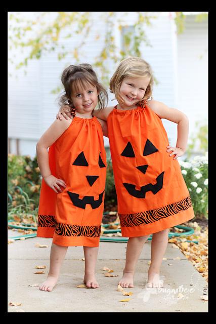 Pillowcase Pumpkin Dress
