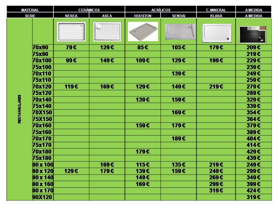 Ba o con ducha platos de ducha xl 140 150 160 170 cm for Platos de ducha ceramicos rectangulares