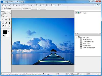 fotografix - A free Photoshop alternative at less than 1 meg