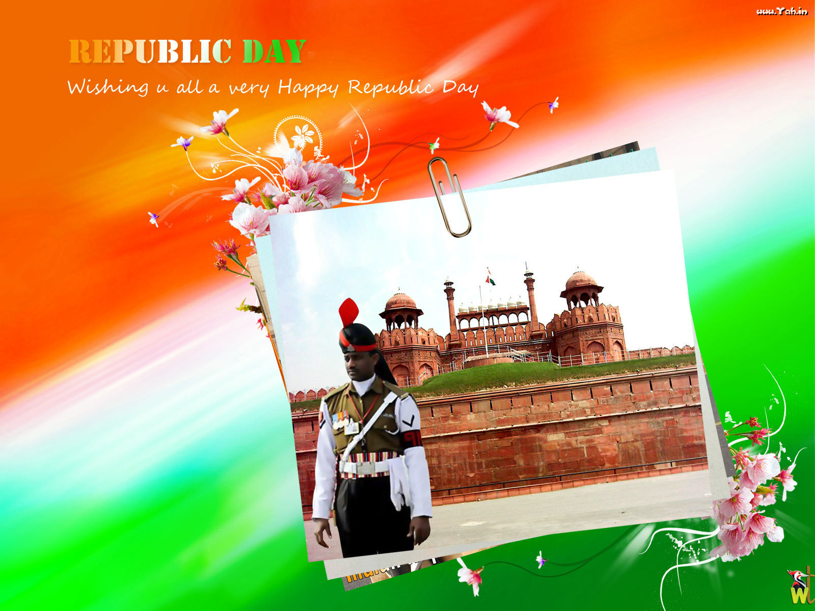 Gandhi Ji With Indian Flag Hd: Pic New Posts: Wallpaper Of Republic Day