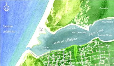mapa lagoa de albufeira Lagoa de Albufeira: Características da Lagoa de Albufeira mapa lagoa de albufeira