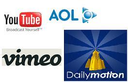 YouTube Vimeo Aol Dailymotion