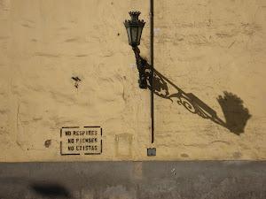 Prohibido pintar en la pared.