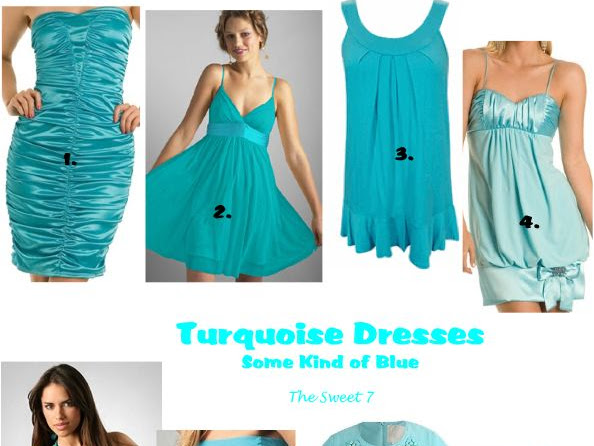 Out of the Blue: Turquoise Dresses