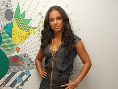Alicia Keys' Denim Jumpsuit