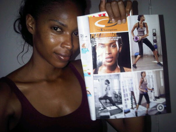 St.Lucia Model MALA BRYAN in Champion, Target Ad in Women's Health Magazine