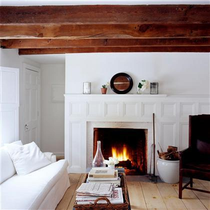Purchase worthy wood beamed ceilings - Wood beams in living room ...