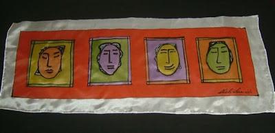 'Colores y Caras', pintura en seda de Chelo Lera