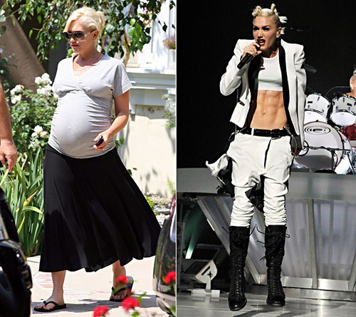 Famosas Embarazadas Antes Y Despues
