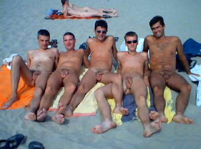 boys playing on the beach nude