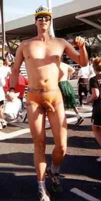 Nude triathlete woman