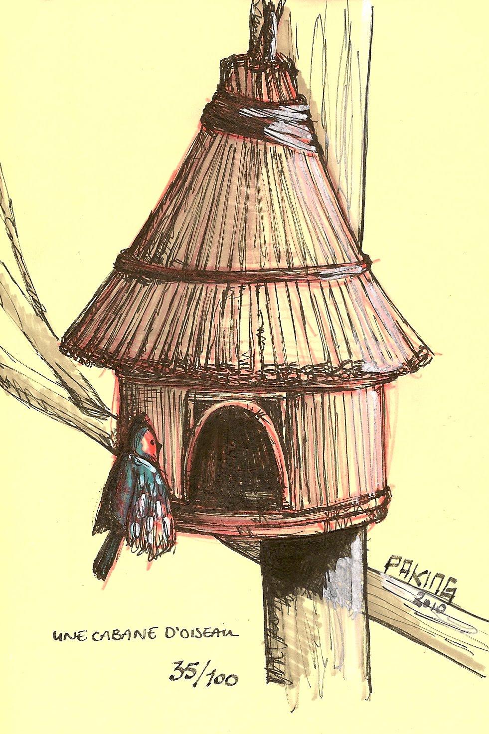 le blogue des 100 dessins une cabane d 39 oiseau 35 100. Black Bedroom Furniture Sets. Home Design Ideas